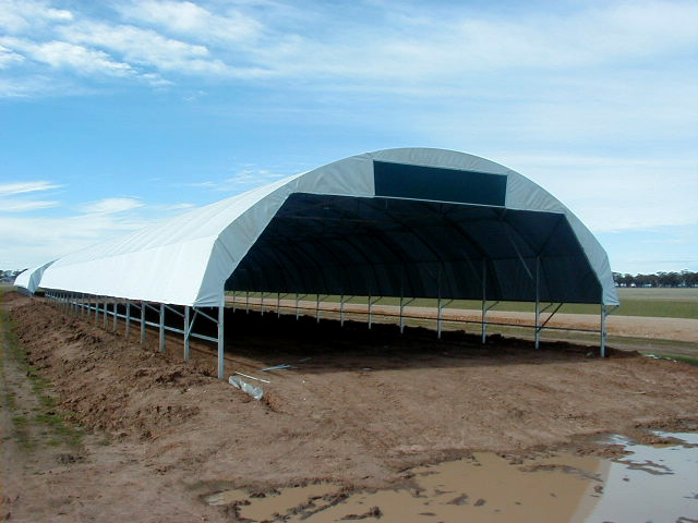 Water Tank Shelter : Tunnel shelter covers c e bartlett manufacturing