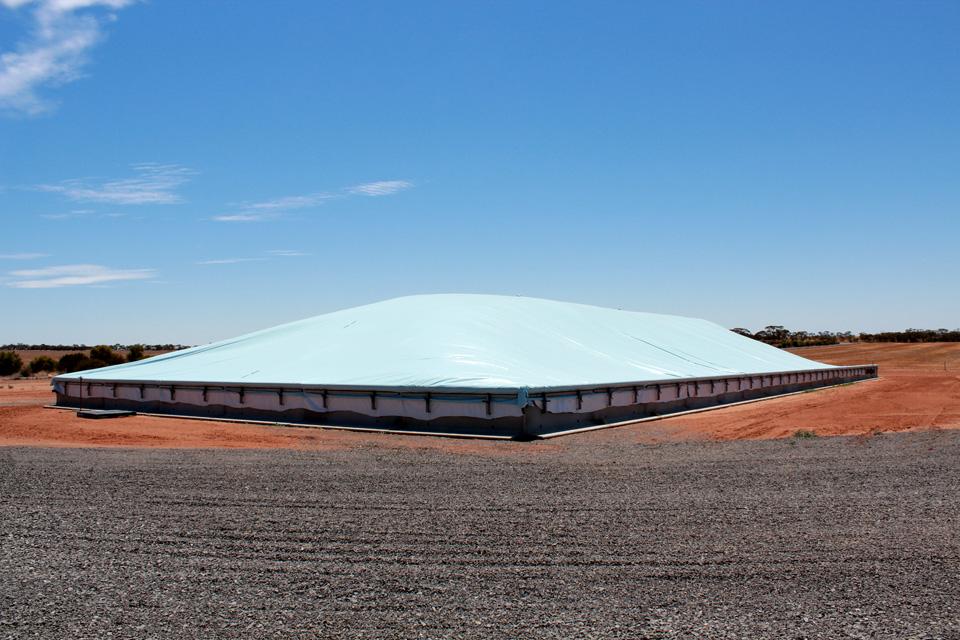 grain bunker covers perfect temporary on farm storage of grain