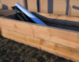 Bartlett Wicking Bed Liner in Raised Garden Bed Built with Timber Sleepers